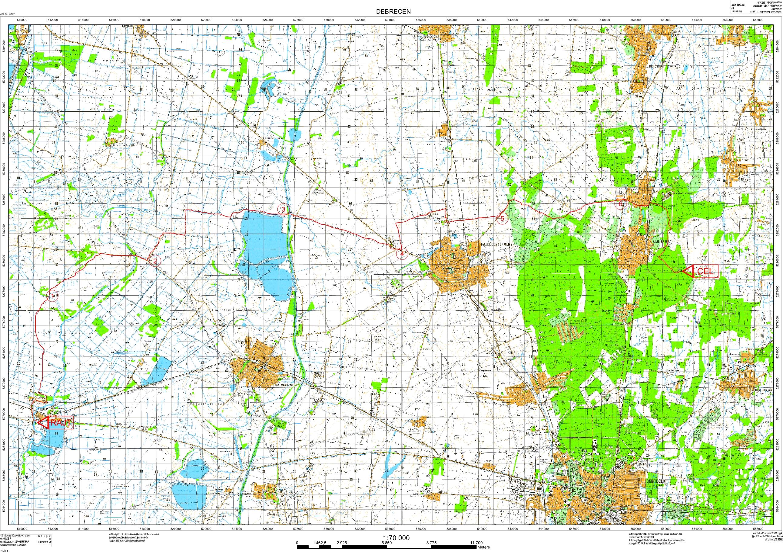 térkép debrecen környéke Hajdú Bihar Megyei és Debrecen Városi Tájékozódási Futó Szövetség térkép debrecen környéke